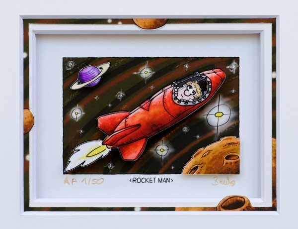 3D Pop Art - Rocket Man