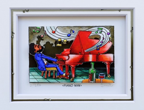3D Pop Art - Piano Man