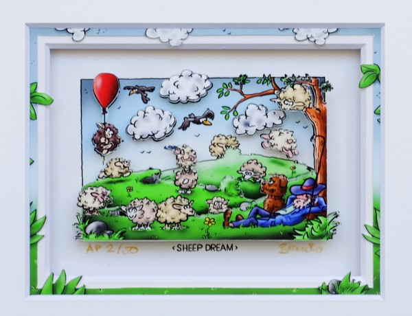 3D Pop Art - Sheep Dream