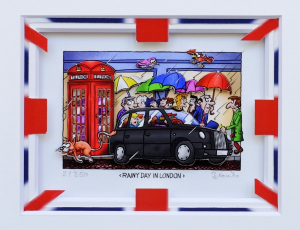 3D Pop Art - Rainy Day In London