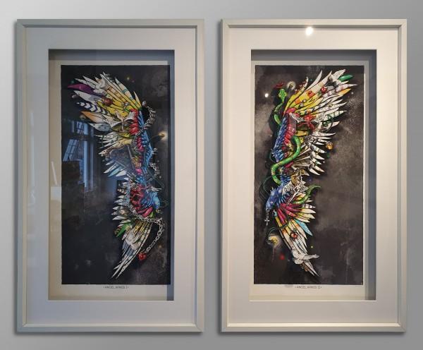 3D Pop Art - Angel Wings I + II