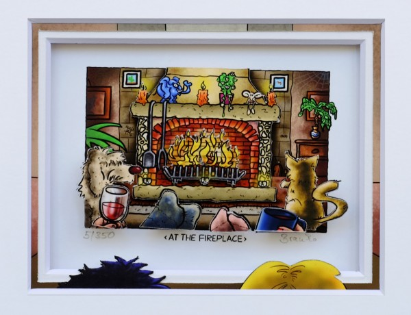 3D Pop Art - At The Fireplace